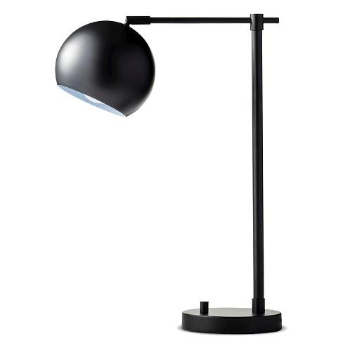Modern Globe Desk Lamp Black Threshold