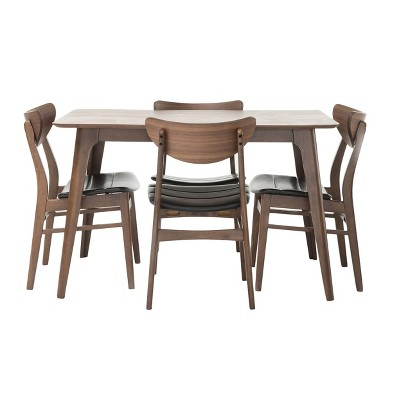 """50"""" 5pc Anise Dining Set Natural Walnut/Dark Brown - Christopher Knight Home"""