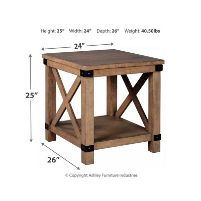 Aldwin Rectangular End Table Gray - Signature Design by Ashley