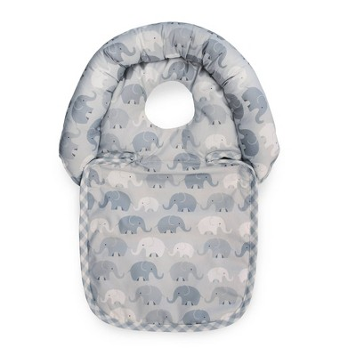 Boppy Noggin Nest Head Support - Gray Elephants Plaid