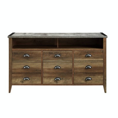 """Industrial Farmhouse Console TV Stand For TVs Up To 58"""" - Saracina Home : Target"""
