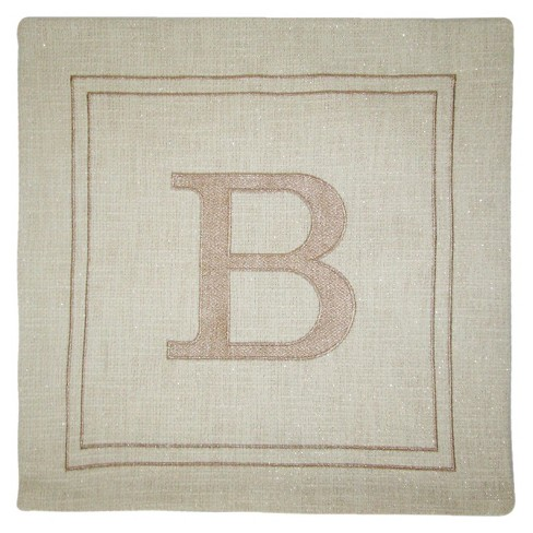 Monogram Throw Pillow Cover - Threshold™ - image 1 of 1