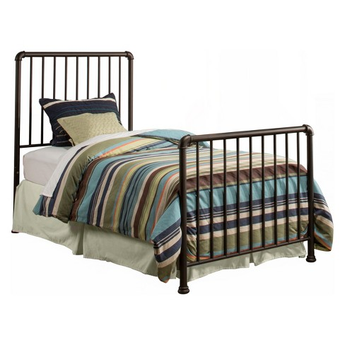 Brandi Metal Bed Set Twin Bed Frame Included Oiled Bronze