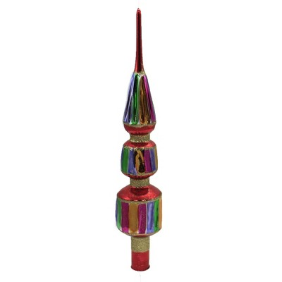 """Christina's World 12.0"""" 3 Tiered Rainbow Finial Tree Topper Pride Lgbtq  -  Tree Toppers"""