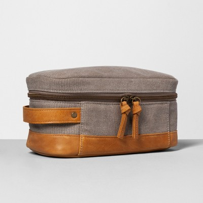 Dopp Kit Canvas and Leather - Hearth & Hand™ with Magnolia