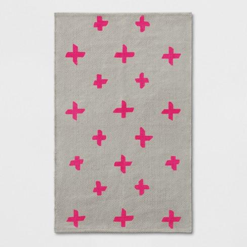 1 8 X2 10 20 X34 Polka Dots Woven Accent Rug Pink Room Essentials