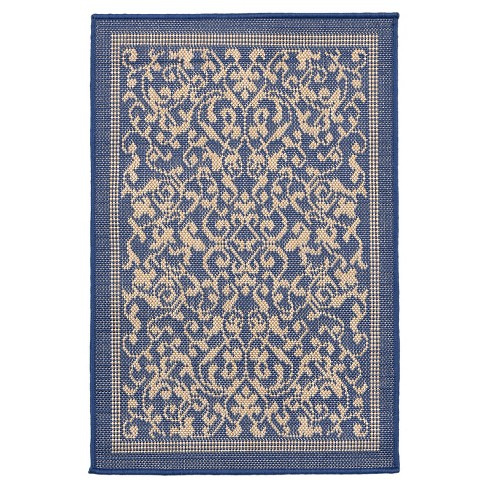 Terrace Scroll Vine Marine Rug - Liora Manne - image 1 of 1