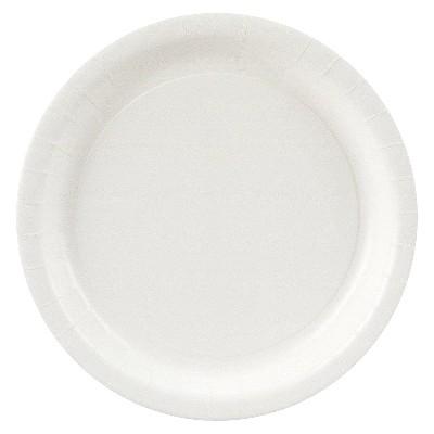 24ct White Dinner Plate