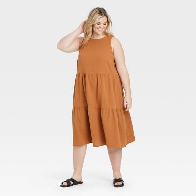 Women's Plus Size Sleeveless Casual Dress - Ava & Viv™