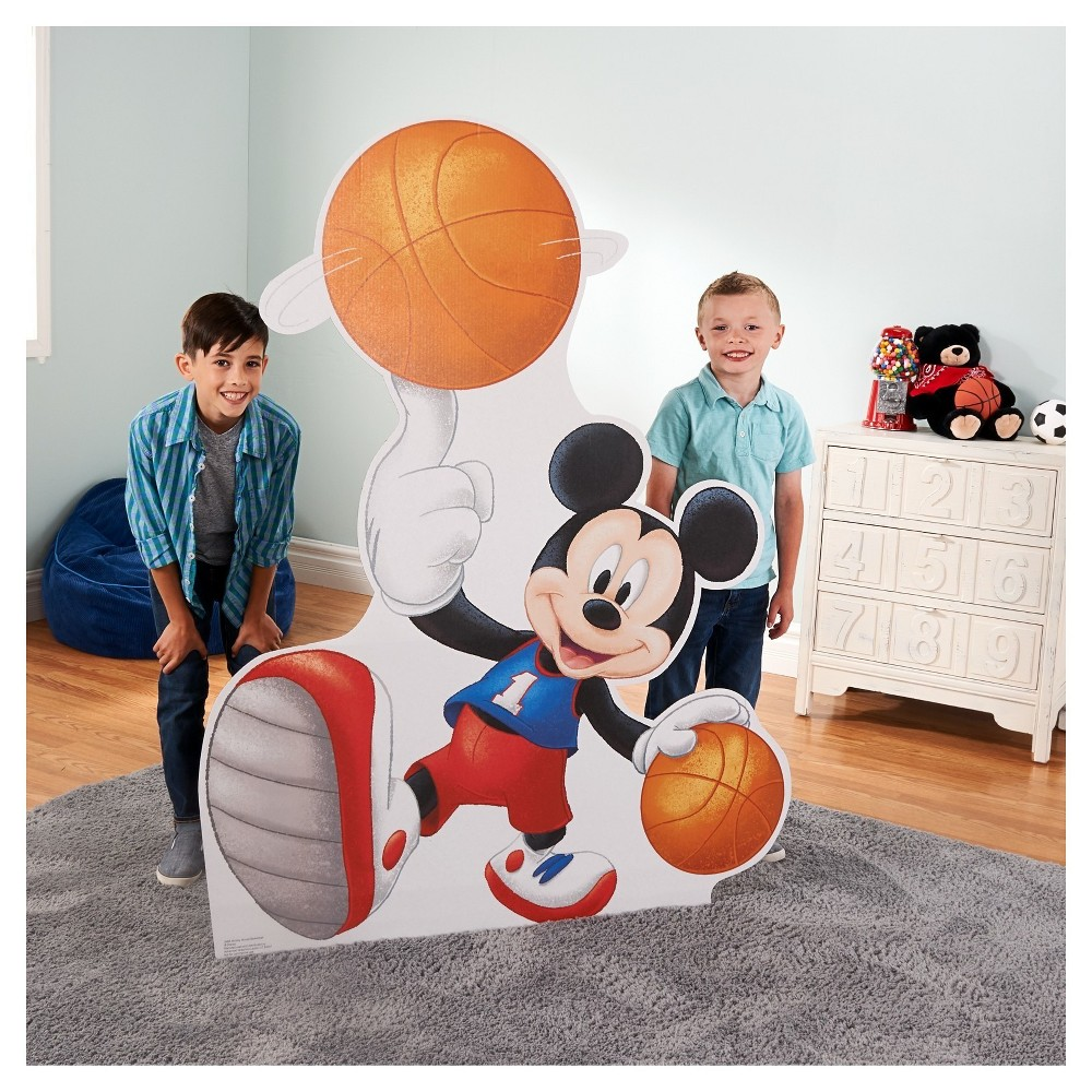 Mickey Mouse Basketball Stand-Up, Multi-Colored