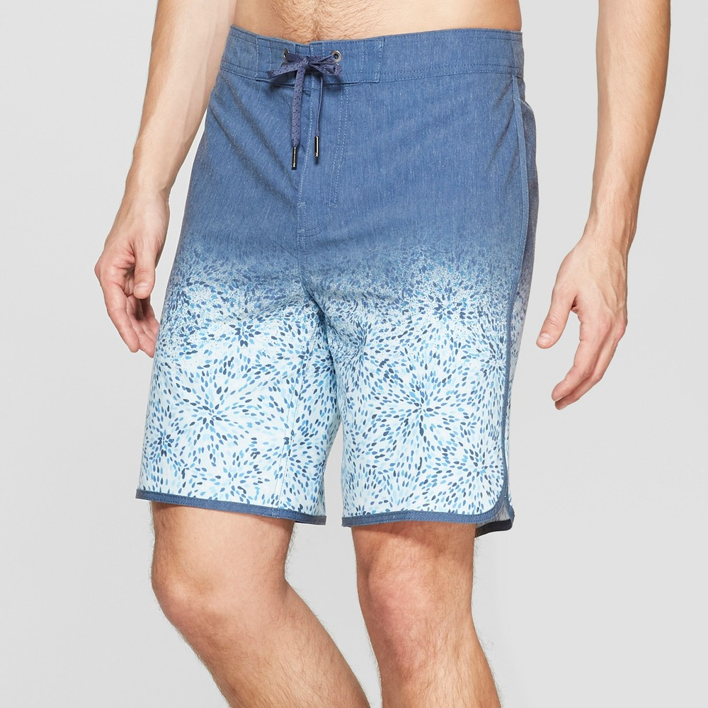 Men's 8.5 Radial Board Shorts - Goodfellow & Co Blue 33