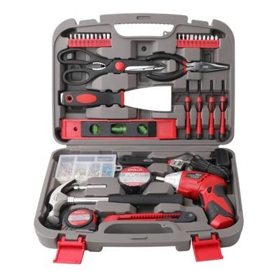 Apollo Tools 135pc Household Tool Kit DT0773 Red