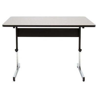 "47.5"" Canvas & Color Adjustable All Purpose Desk Black/Gray - Calico Designs"