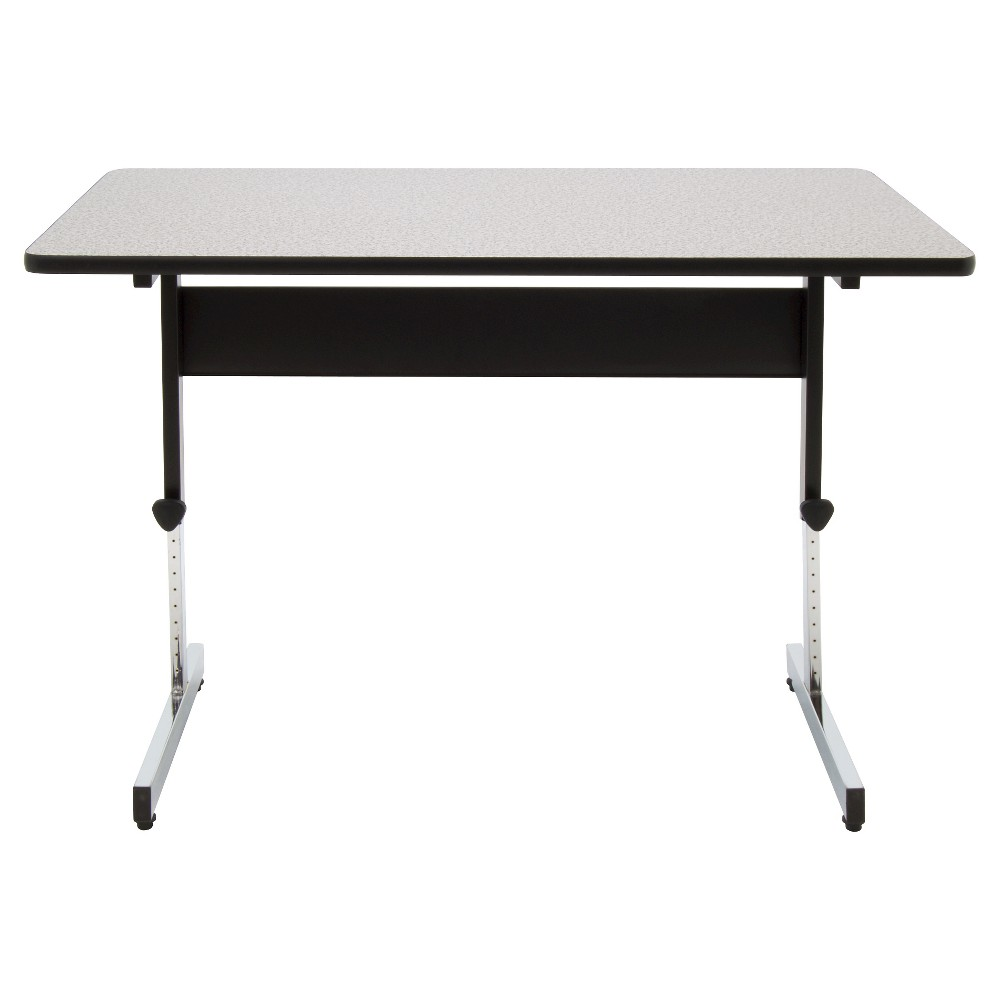 "47.5"" Canvas & Color Adjustable All Purpose Desk Black/Gray - Calico Designs, Gray Black"