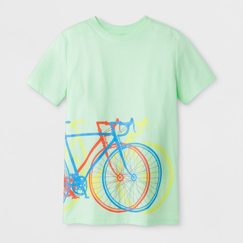 Boys' Short Sleeve Bicycles Graphic T-Shirt - Cat & Jack™ Green - image 1 of 1