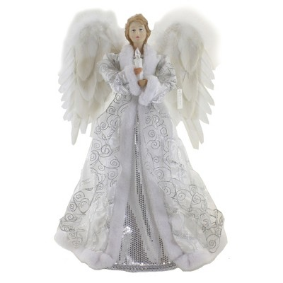 """Tree Topper Finial 20.0"""" Angel With Led Candle Battery Operated Free Standing  -  Tree Toppers"""