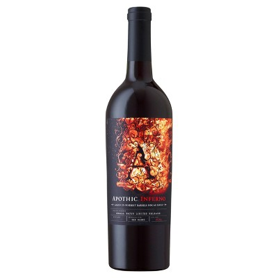 Apothic Inferno Red Blend Red Wine - 750ml Bottle