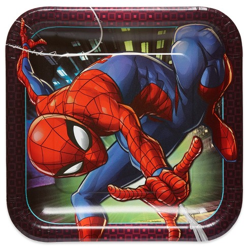 8ct Spider-Man Paper Dinner Plates - image 1 of 2