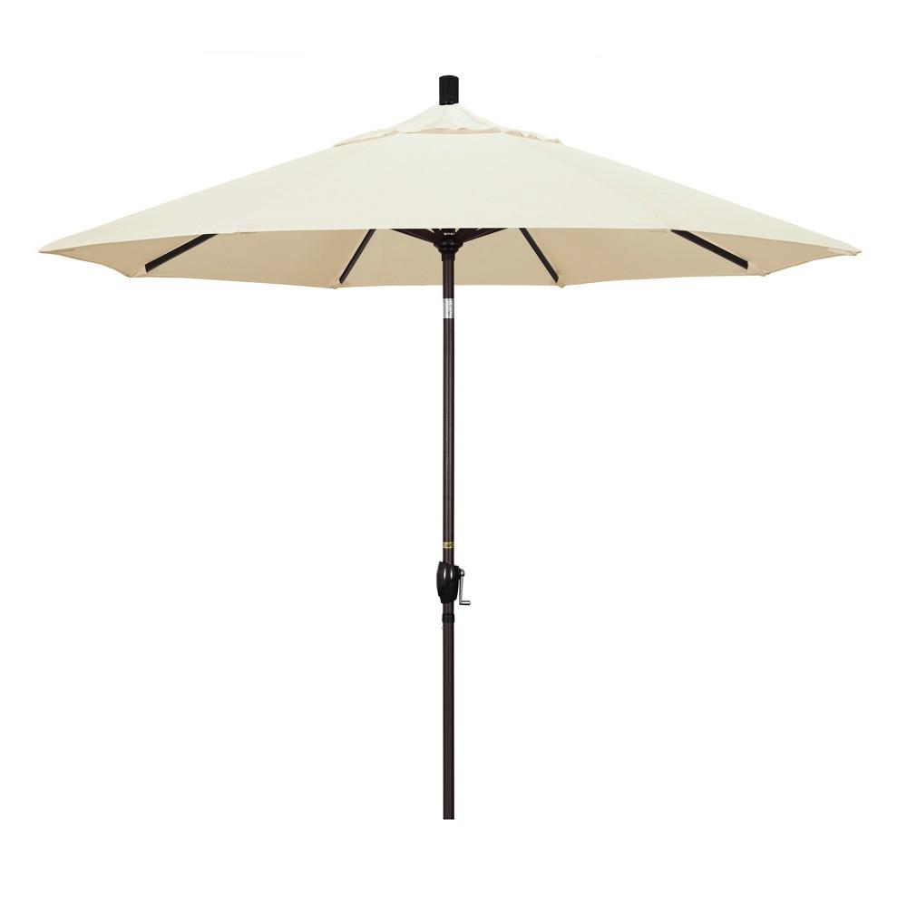 Image of 9' Aluminum Push Tilt Patio Umbrella - Canvas