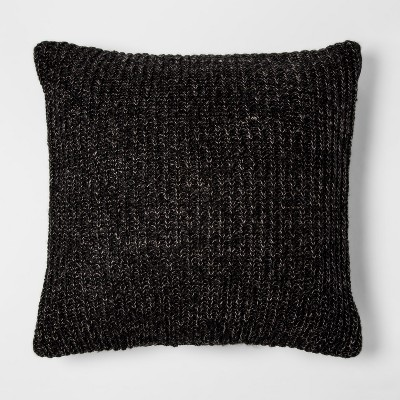 Gray Knit Oversize Square Throw Pillow - Project 62™