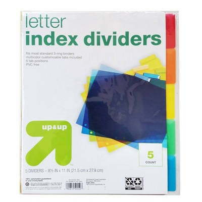 Plastic Letter Index Dividers - up & up™