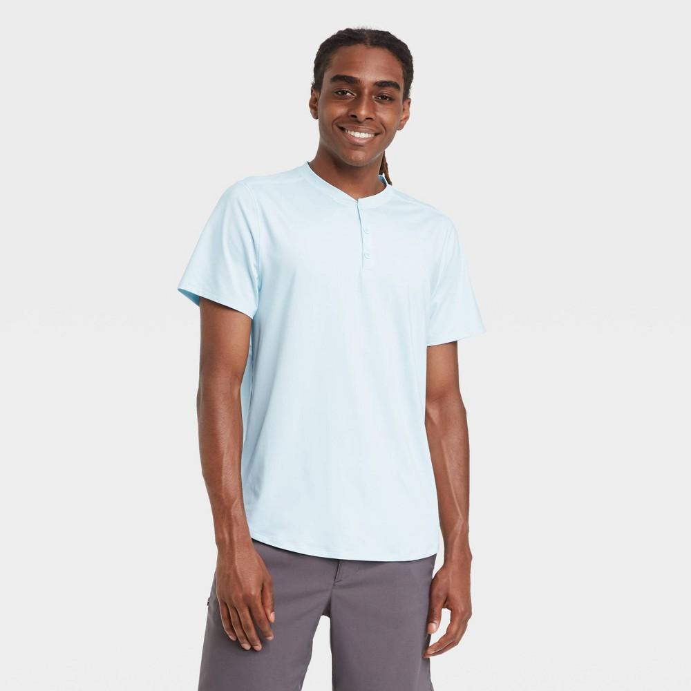 Mens UPF 50 Short Sleeve T-Shirt - All in Motion Ice Blue XXL