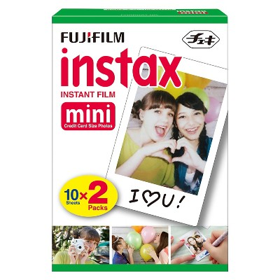 Fujifilm Instax Mini Instant Film Twin Pack - White (16437396)