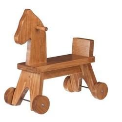 Remley Kids Wooden Riding Horse, Harvest