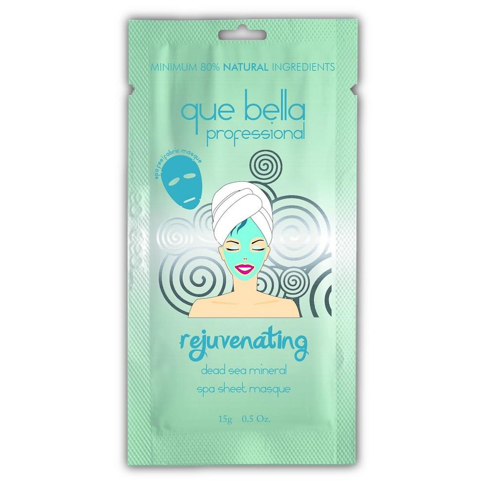 Que Bella Rejuvenating Facial Sheet Mask - Dead Sea Mineral - 0.5oz