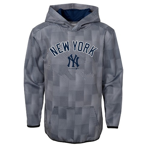 online retailer f0841 caafc New York Yankees Boys' First Pitch Gray Poly Hoodie S