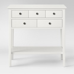 5 Drawer Console Table Sour Cream - Threshold™