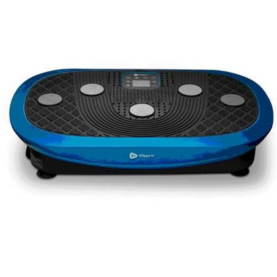 LifePro LP-RMXPLS-BLU Portable Home Body Weight Training Fitness Exercise Workout Rumblex Plus 4D Vibration Plate Platform Equipment Machine, Blue