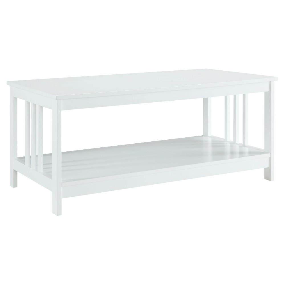 Mission Coffee Table - White - Convenience Concepts