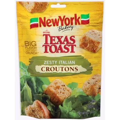 New York Bakery Texas Toast Zesty Italian Croutons - 5oz