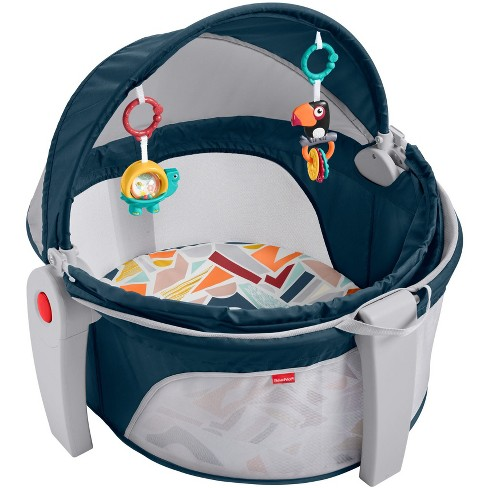 Fisher-Price On The Go Baby Dome Playard - Gray   Target ebf29c6d2b0