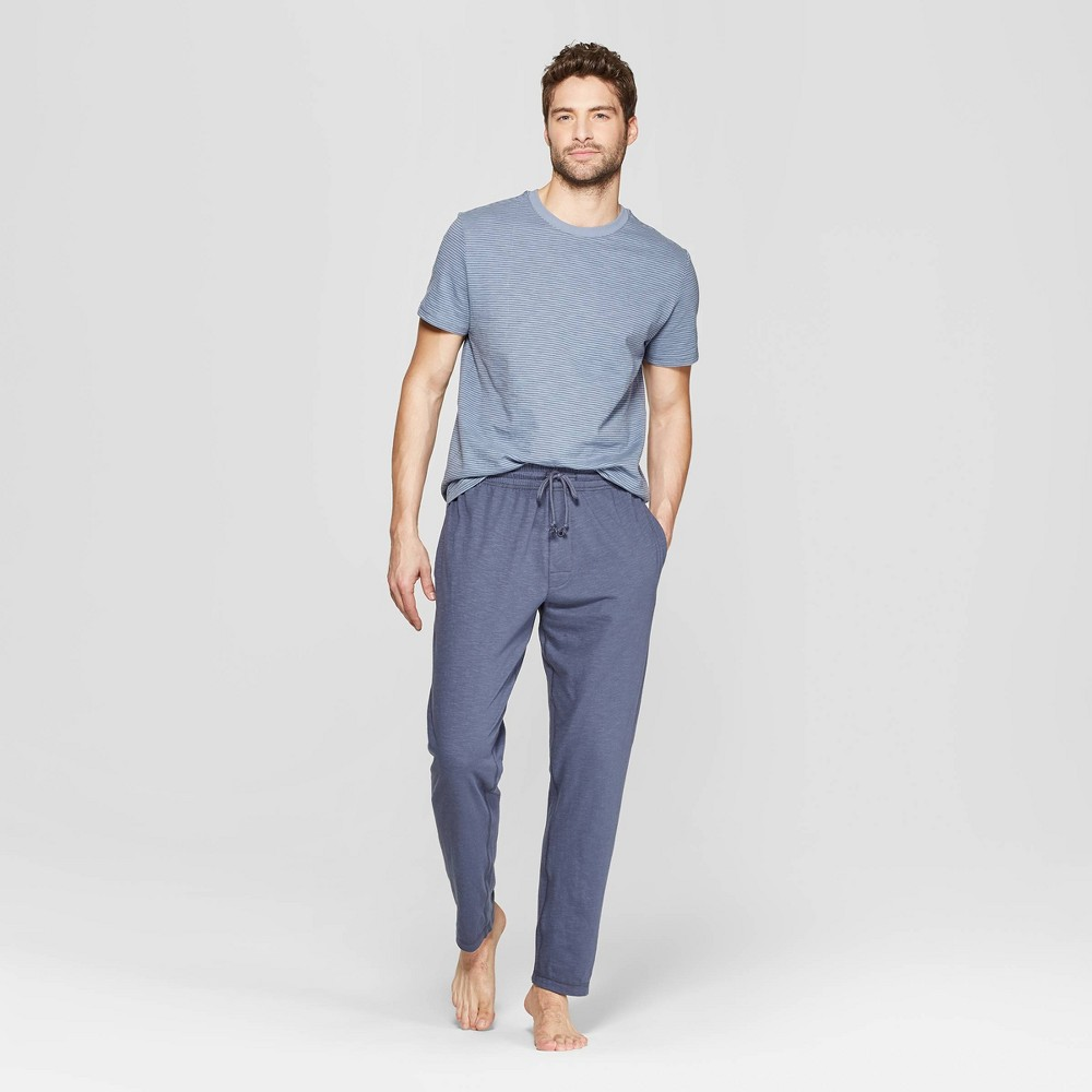 Men's Striped Knit Pajama Set - Goodfellow & Co Geneva Blue S