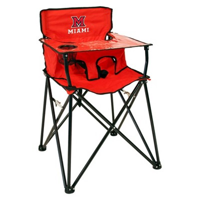 NCAA Miami University RedHawks Ciao! BabyPortable High Chair - Red