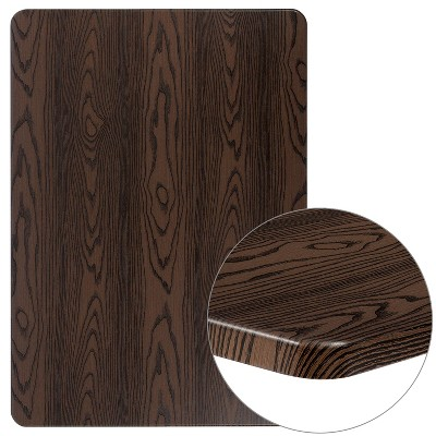 "Flash Furniture 30"" x 42"" Rectangular Rustic Wood Laminate Table Top"