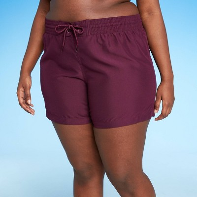 Women's Plus Size BoardShort Bikini Bottom - Kona Sol™ Burgundy