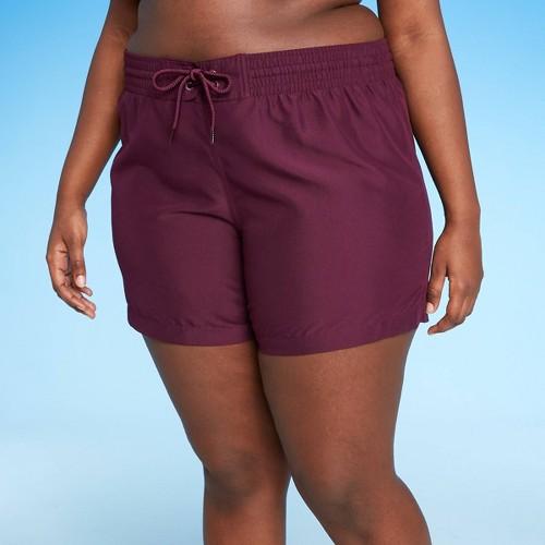 Women S Plus Size BoardShort Bikini Bottom Kona Sol Burgundy