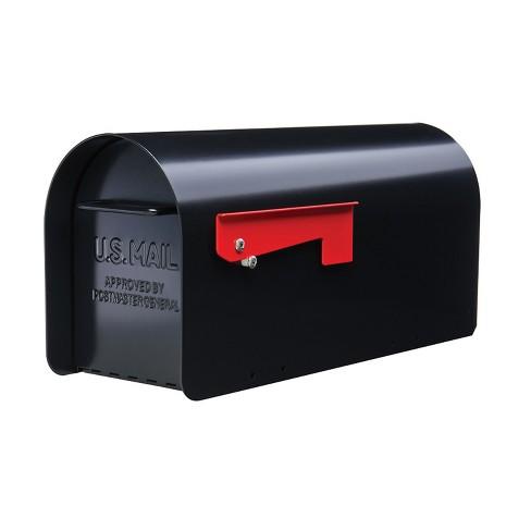 Gibraltar Mailboxes Ironside Large Weatherproof Post Mount Galvanized Steel Mailbox, Black - image 1 of 4