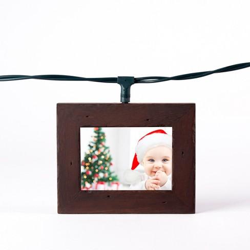 Wood Photo Frame String LED Light Boxes Candlenut - Polaroid : Target