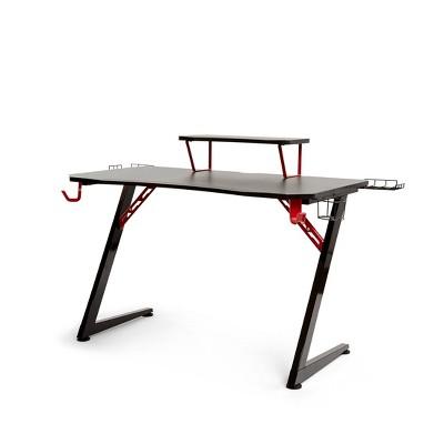 "47.2""x23.3"" Airlift Elite Gaming E Sports Computer Desk Black - Seville Classics"