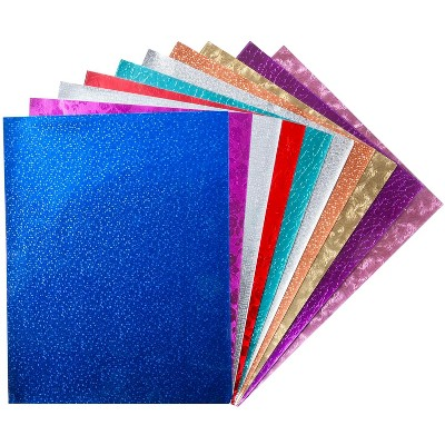 Hygloss Metallic Foil Paper, 10 x 13 Inches, Assorted Colors, pk of 25 Sheets