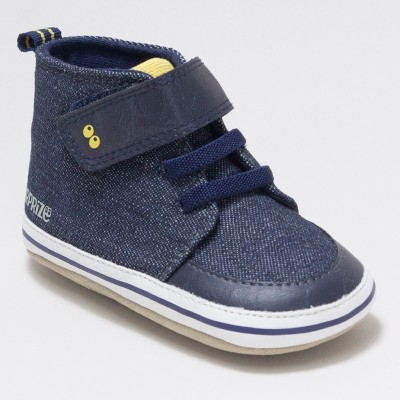 Baby Boys' Surprize by Stride Rite Chris Soft Sole High Top Sneakers - Navy 0-6M