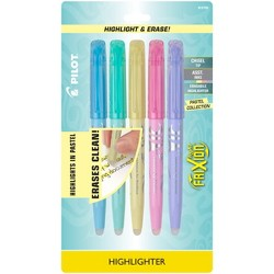 Pilot 5ct FriXion Light Pastel Erasable Highlighters Chisel Tip