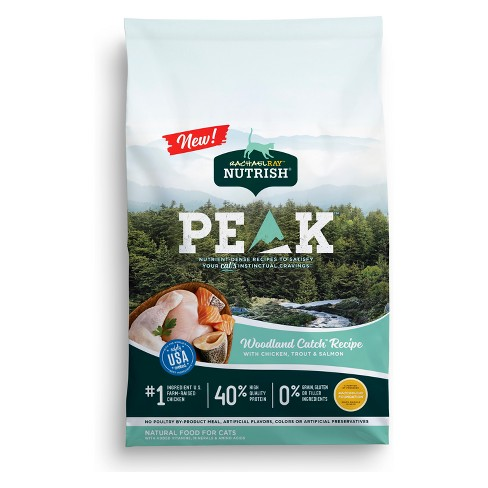 Rachael Ray Nutrish Peak Grain Free Woodland Catch Recipe With Chicken, Trout & Salmon Adult Premium Dry Cat Food - image 1 of 4