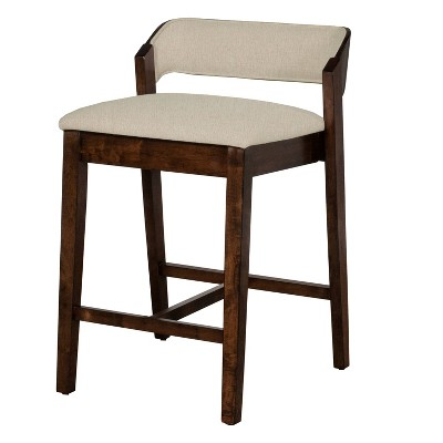 Dresden Non - Swivel Counter Height Stool - Walnut - Hillsdale Furniture