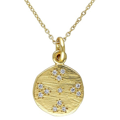 0.13 CT. T.W. Cubic Zirconia Pendant Necklace in Yellow Rhodium Plated Sterling Silver - Gold - image 1 of 1