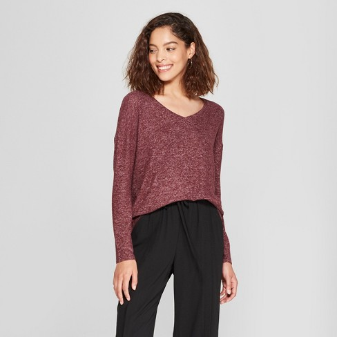 Womens Long Sleeve Cozy Knit Top A New Day Target